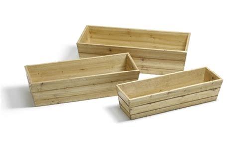 small wood planter box wooden window box trough planter small h17cm x l62cm 163 19 99