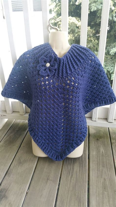 crochet pattern j hook hot off my hook project cowl neck poncho started 03
