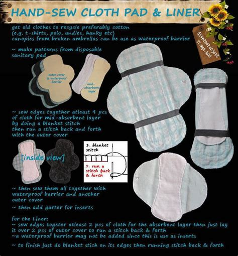 Handmade Sanitary Pads - sew cloth pad liner 183 a liner 183 sewing on cut