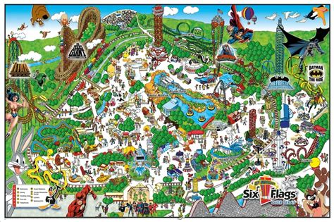 six flags texas arlington map mapa de six flags en arlington texas map of six flags arlington texas mapas maps