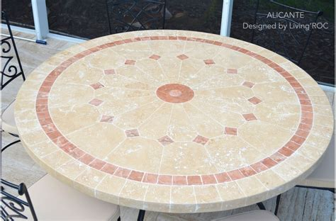 "48"" & 60"" Outdoor Garden Patio Round Mosaic Marble dining"