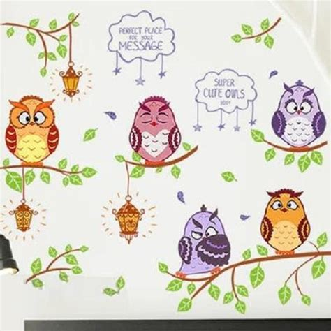 Wall Sticker Is Uk 60x90cm jual wall sticker stiker dinding stiker tembok owl