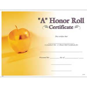 free honor roll certificate template a honor roll certificate jones school supply