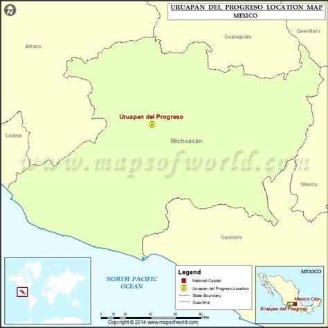 progreso mexico map where is uruapan progreso location of uruapan