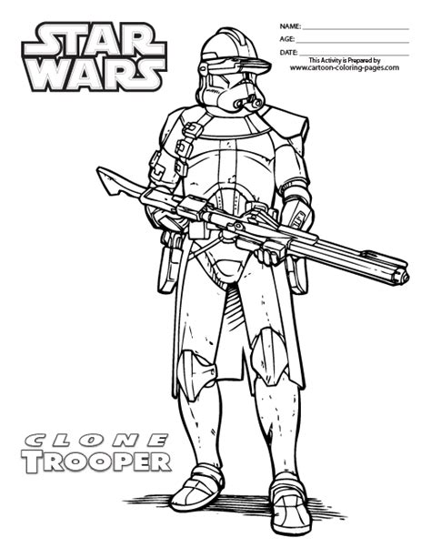 free the clone commander coloring pages