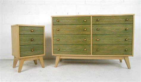 Matching Nightstands Matching Mid Century Dresser And Nightstand At 1stdibs