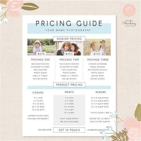 wedding photography price list template photography pricing template pricing guide template