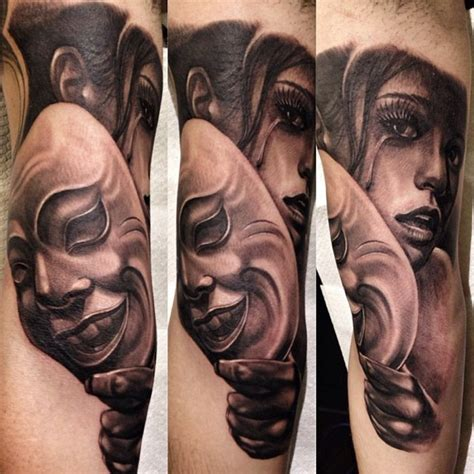 tattoo girl crying cry behind the mask chicano tattoo best tattoo ideas gallery