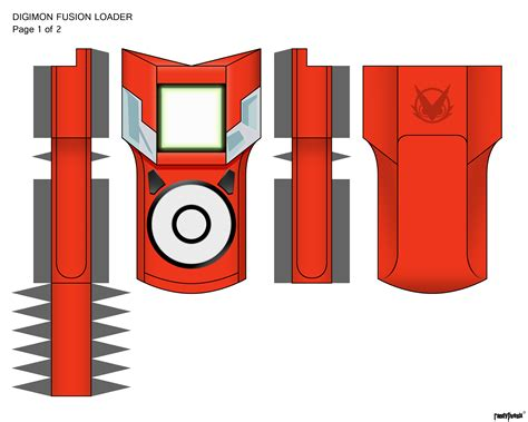 Digimon Digivice Papercraft - xros fusion page 1 of 2 by randyfivesix on deviantart