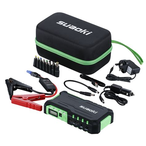 car booster charger suaoki 18000mah auto jump starter car emergency charger