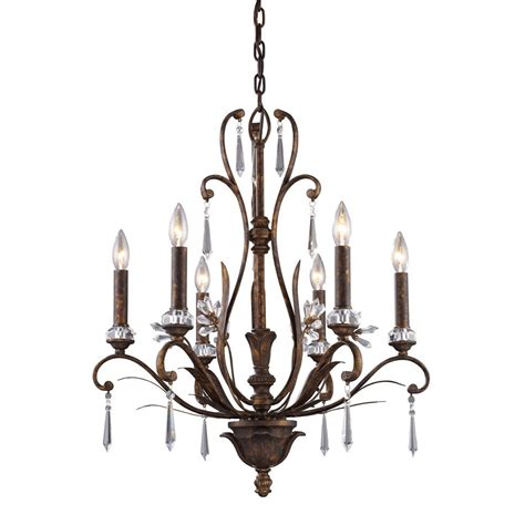 Chandelier Mount Titan Lighting 6 Light Ceiling Mount Burnt Bronze Chandelier The Home Depot Canada