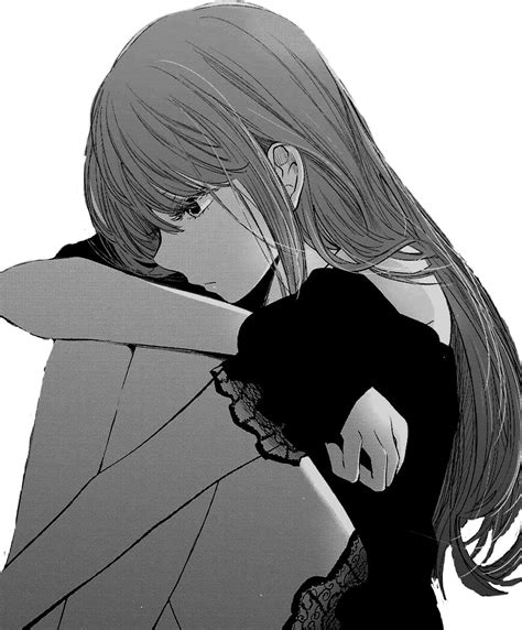 anime manga girl sad sticker  xxmixaixx