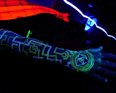 uv ink tattoo 35 awesome uv ideas gorgeously glowing