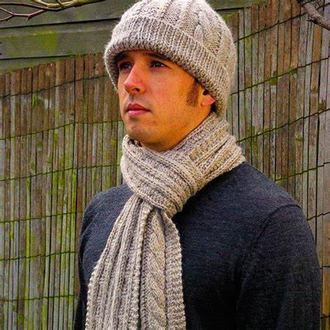 knitting pattern for mens scarf and hat 1000 ideas about aran knitting patterns on pinterest