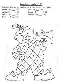 addition to 10 worksheet twinkl work sheets number bonds