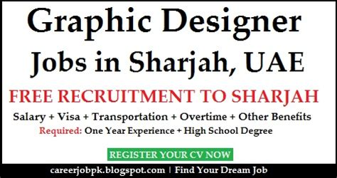 design management jobs uae graphic designer dubai visa provided jobs