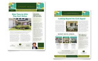 Apartment Community Newsletter Templates by Real Estate Newsletter Template Design