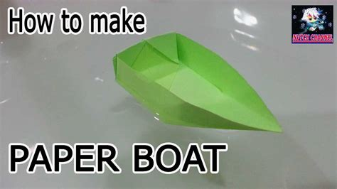 how to make a paper boat origami tutorial canoe