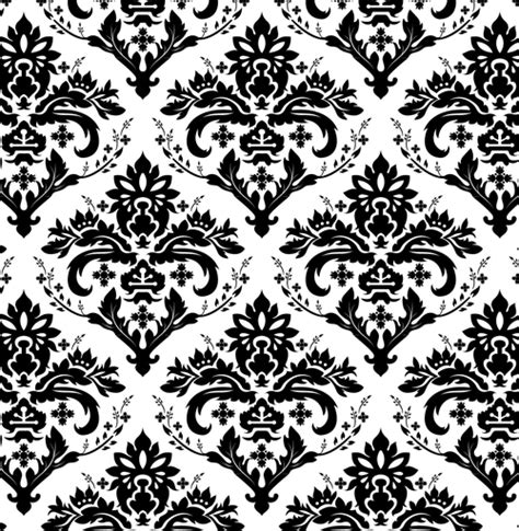 Vector Background Pattern Black And White | european background of black and white pattern vector free