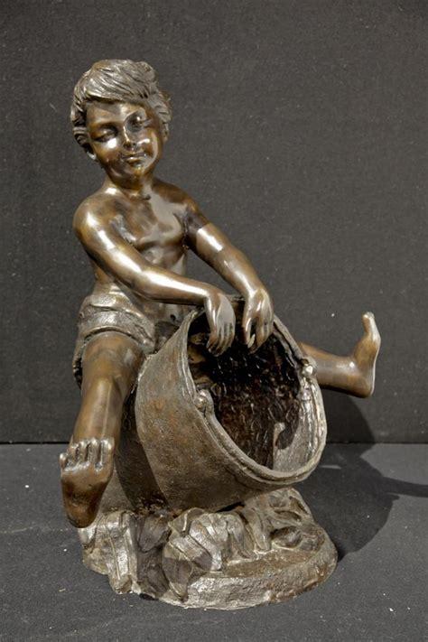 garten ã sisch 246 sisch bronze eimer cherub boy garten brunnen wasser
