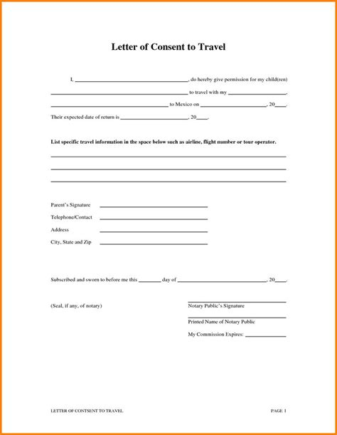 authorization letter for travel best 25 consent form children ideas on