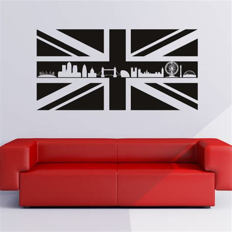 union with skyline wall stickers wall art