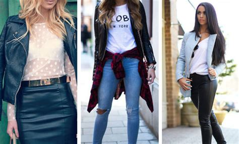 leather jacket outfit ideas  women stayglam