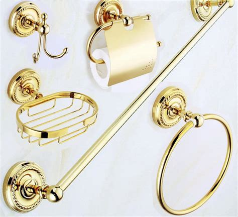 polished brass bathroom accessories compare prices on gold bathroom fittings shopping