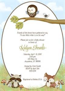 forest friends baby shower invitation baby shower
