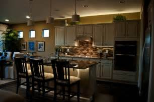 stunning led lights for kitchen island with above kitchen