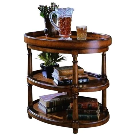 hooker accent table hooker furniture seven seas two level oval accent table