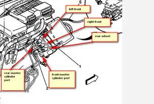 Brake Line Diagram 1999 Chevy S10 Where Do Brake Lines Enter The Abs Controller On 1999