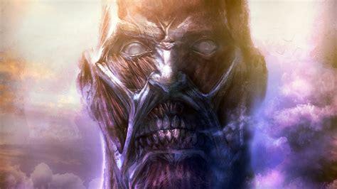 wallpaper anime hd attack on titan colossal titan art wallpaper hd