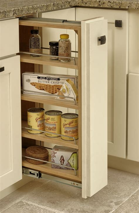 pull out spice rack cabinet kitchen storage organizer