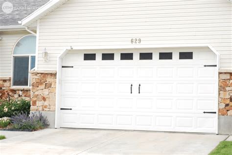 Garage Door Makeover A Beautiful And Surprisingly Affordable Garage Door
