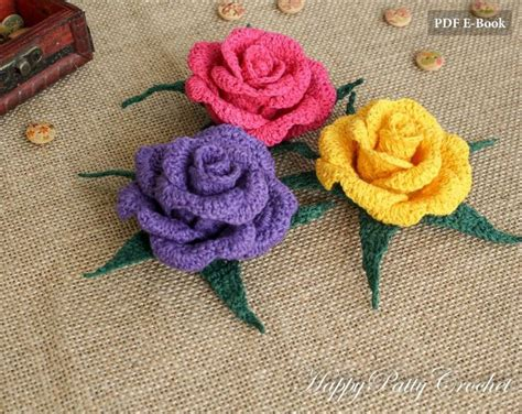 rose pattern name 1232 best images about crochet flowers on pinterest free