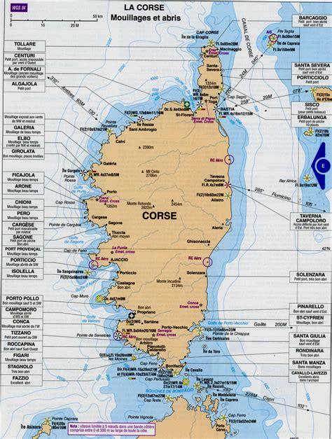 Carte De by Carte De Corse Voyages Et Vacances Arts Et Voyages