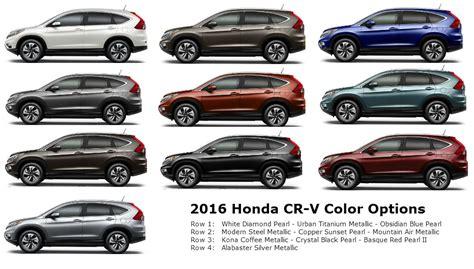 honda crv colors 2015 2016 honda cr v color options