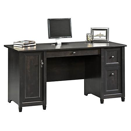 sauder edge water desk sauder edge water computer desk estate black by office