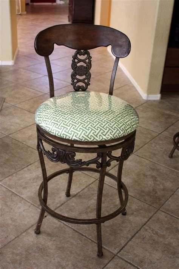 reupholster vinyl bar stools the pretty poppy recovered bar stools