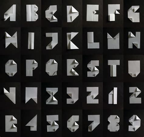 Folded Paper Font - busk lettercult