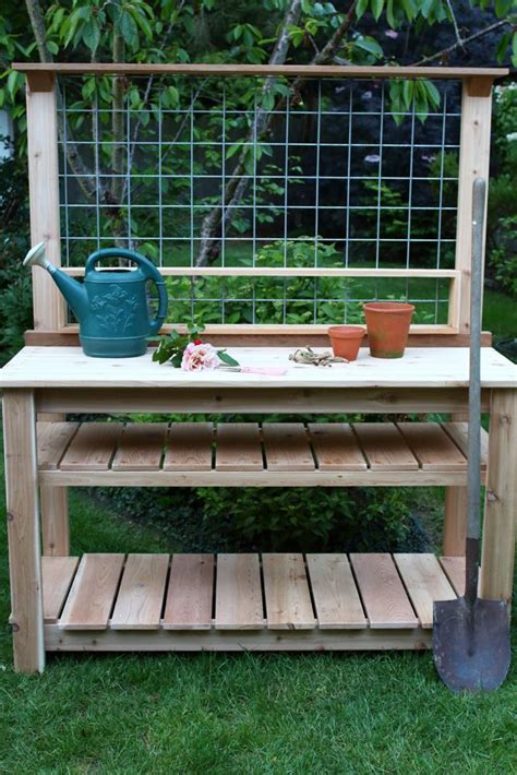 garden potting bench oversize cedar potting bench garden woodworks