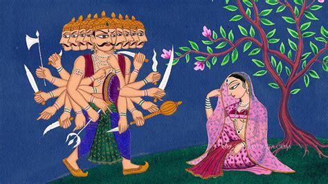 sita siege when ravan prayed for lord ram and sita