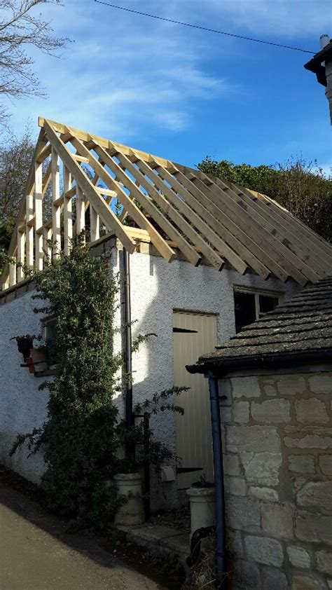 Pitched Roof To Flat Roof Converting A Flat Roof Garage To A Pitched Roof With
