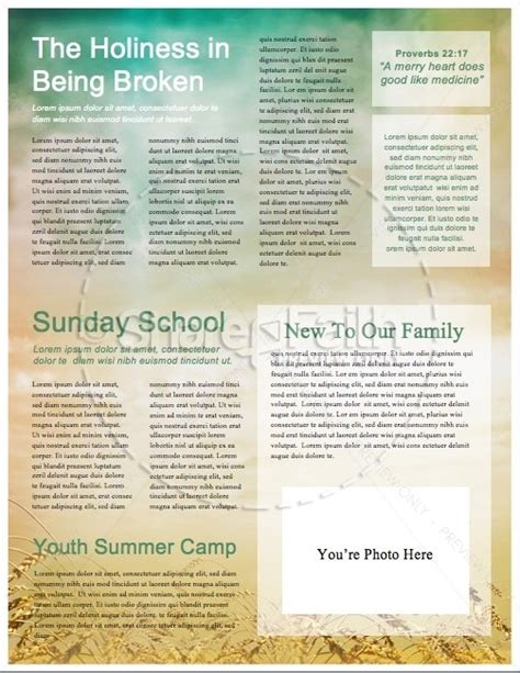 christian newsletter templates free in remembrance of me christian newsletter template
