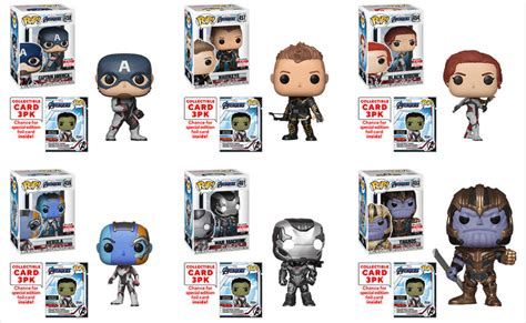 exclusive funko pop avengers endgame figures roundup
