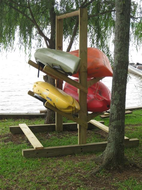 how to build a boat storage rack homemade kayak rack for the home pinterest kayak