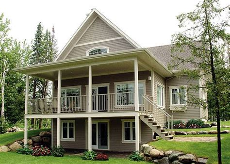 house plans sloping lot hillside home ideas