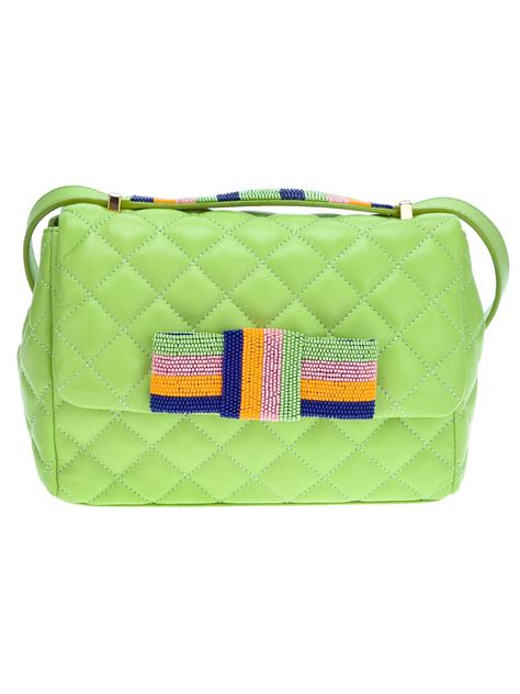 Moschino Cheap Chic Slitted Shoulder Bag by Moschino Cheap Chic Quilted Shoulder Bag In Green Lyst