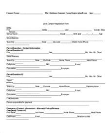 Template For Form registration form template 9 free pdf word documents